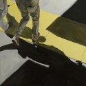 Yellow Cable Cover / oil on board / 77 x 60 cm / 2017 / Private collection thumbnail