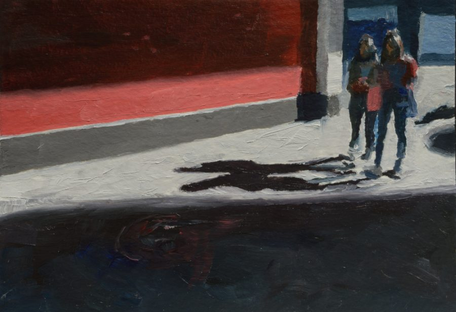 City Works 05 / oil on paper / 105 x 148 mm / Private collection