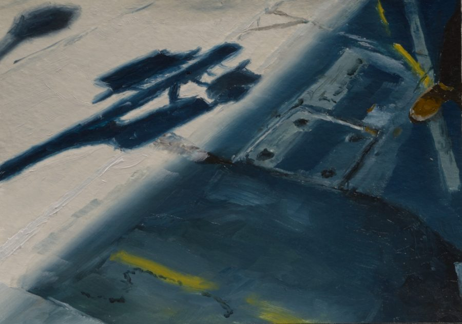City Works 04 / oil on paper / 105 x 148 mm / Private collection