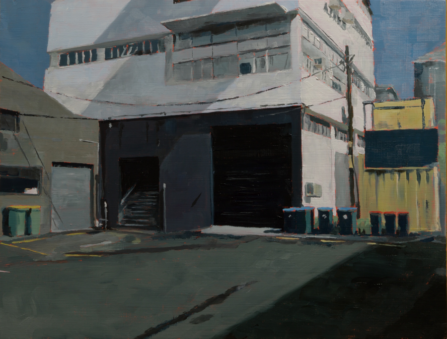 Melrose St buildings / oil on board / 36 x 47 cm / 2018 / Private collection