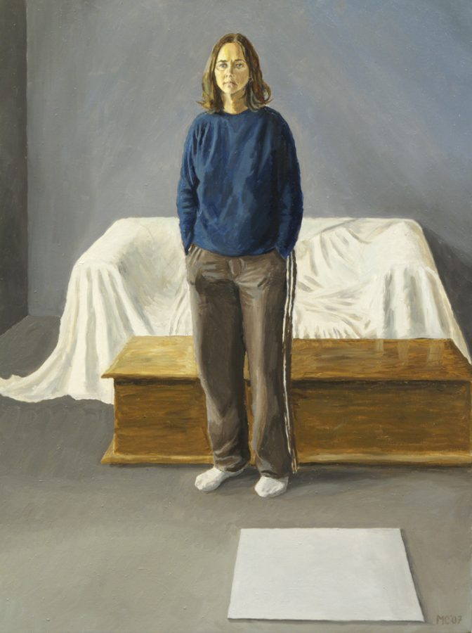 Anita Standing / oil on canvas / 64 x 50 cm / 2007
