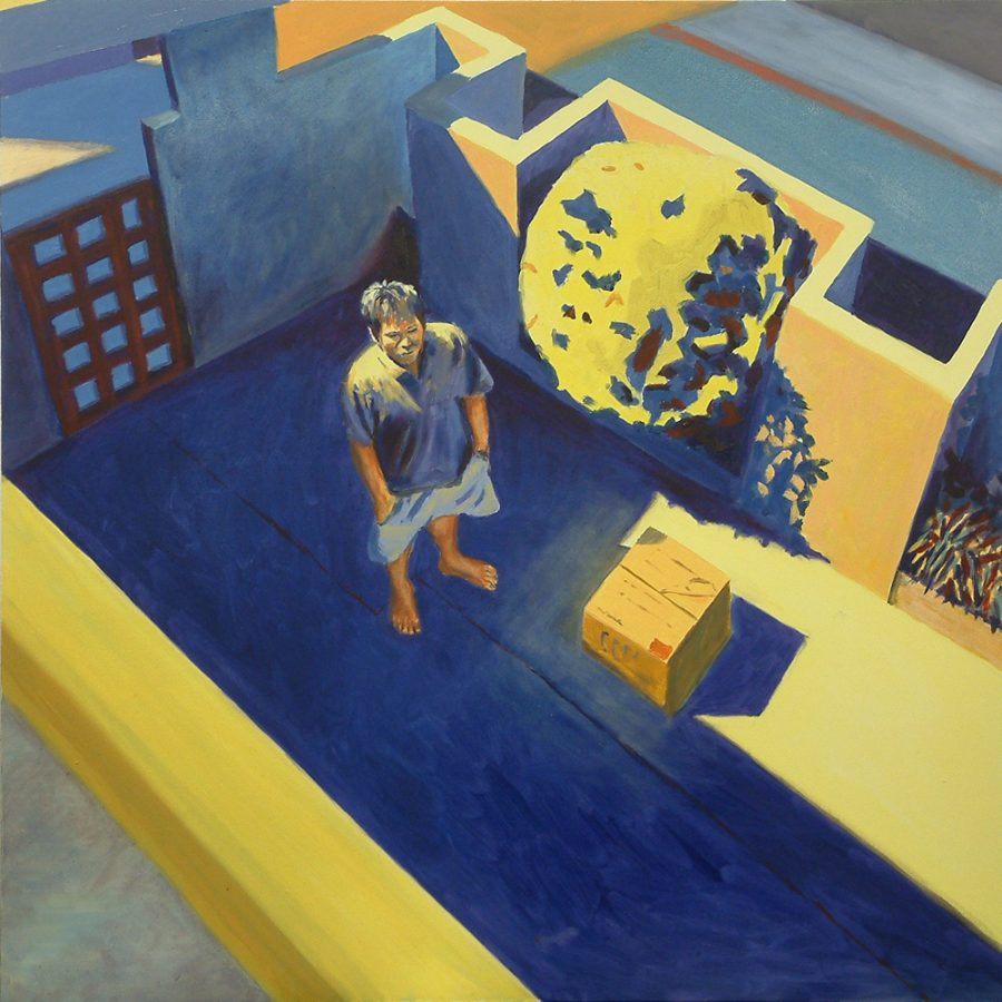 Man and Box (Dennis) / oil on canvas / 102 x 102 cm / 2008