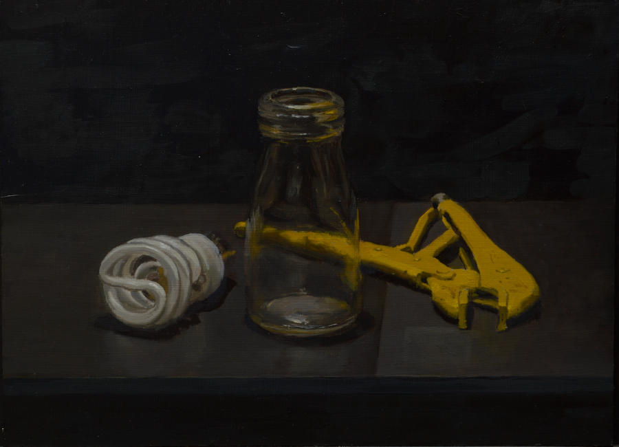 Molegrip and Bulb / oil on board / 36 x 48 cm / Private collection