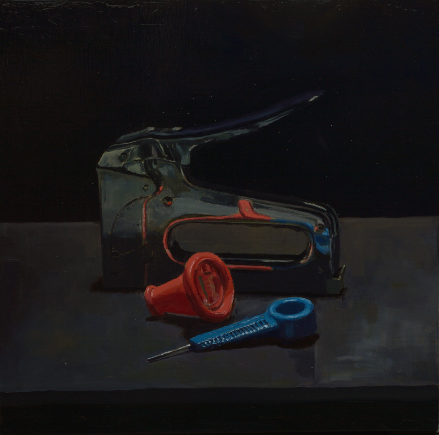Stapler / Oil on board / 41 x 40 cm / 2019