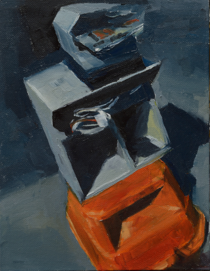 Post Box / oil on canvas panel / 23 x 18 cm