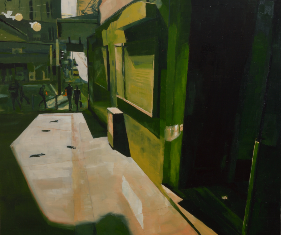 Durham Lane / oil on board / 60 x 70 cm
