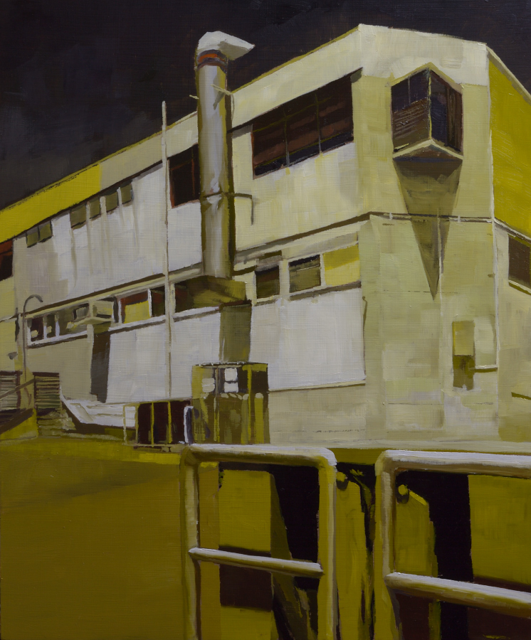 Northcote building / oil on board / 60 x 50 cm