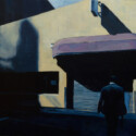 Purple Awning / oil on board / 41 x 61cm / 2020 / Private collection thumbnail