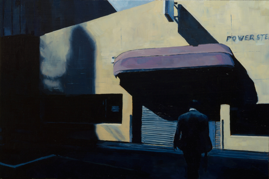 Purple Awning / oil on board / 41 x 61cm / private collection