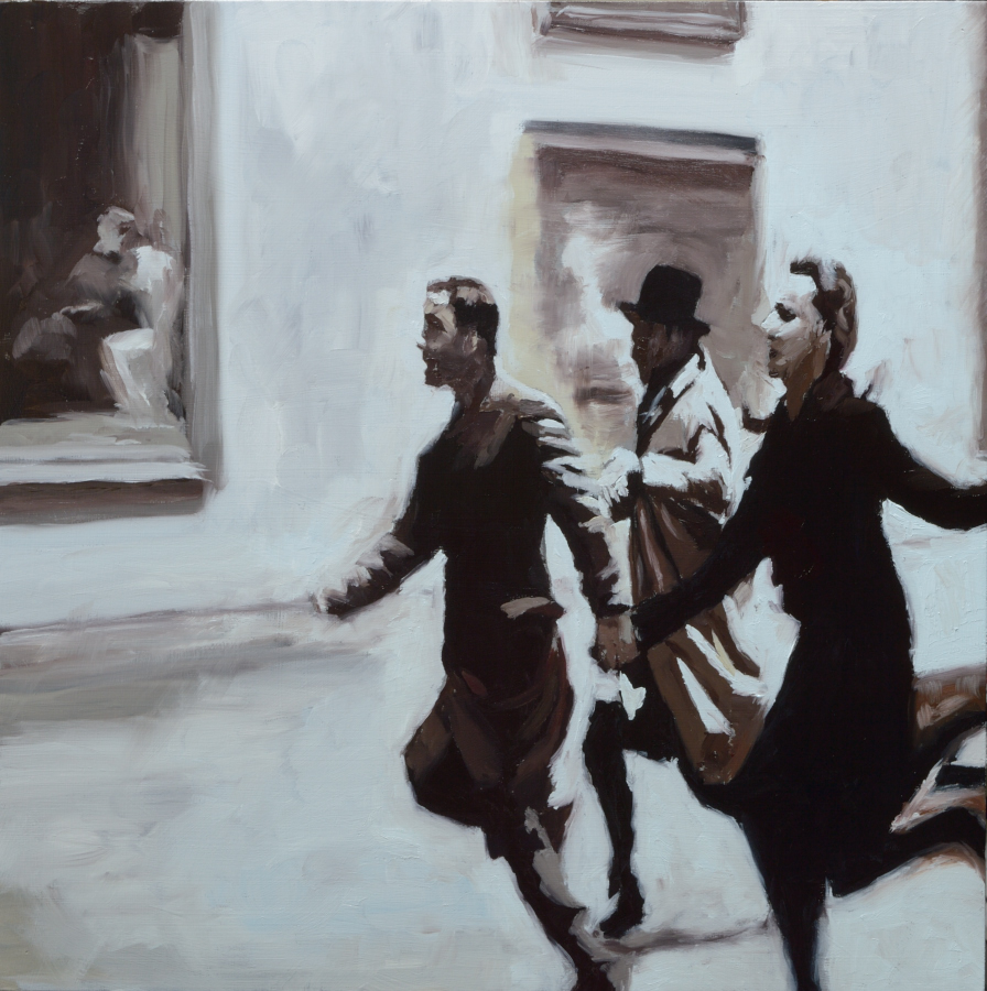 Band á Part 02 / oil on board / 40 x 40 cm / 2020 / Private collection